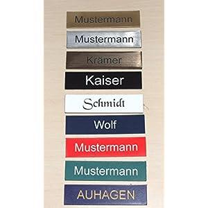 1 Stueck-Klingelschild selbstklebend -Tuerschild-Namensschild-Briefkastenschild-mit-Gravur