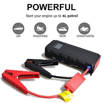 51rvrIMsMGL. SS416  - Maxesla Jump Starter Batería Portátil de Emergencia para coche, Arrancador de Coche 14000mAh, 400A Jump Starter Cargador de 12V Batería Para Vehículo (Batería Externa, LED, Pantalla LCD,Arranque Kit Para Coche)