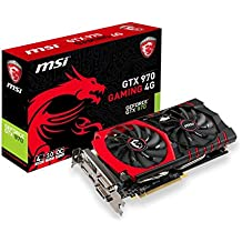 MSI GTX970 Gaming 4G Carte graphique Nvidia GeForce GTX 970 1114 MHz 4096 Mo PCI-Express
