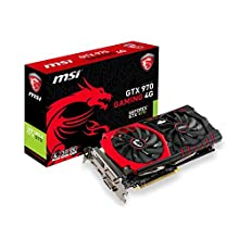 MSI NVIDIA GTX 970 Gaming Twin Frozr HDMI DVI-I DP Graphics Card (4GB, PCI Express, DDR5, 256 Bit)