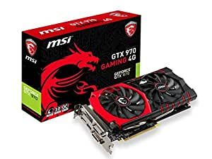 Msi GTX 970 GAMING 4G, Scheda Video, 4 GB GDDR5, PCIe, Nero/Antracite