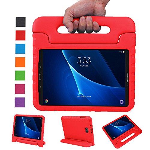 BELLESTYLE Samsung Galaxy Tab A 10.1 Funda- Protector de peso ligero a prueba de golpes Estuche para niños para Samsung Galaxy Tab A 10.1 pulgadas (SM-T580 / SM-T585) Tablet 2017 Release(Rojo)