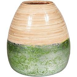 Creaciones Meng - Jarron Bambu Verde Ref-13695
