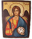 Hand Made handbemalt Christian Icon von Erzengel Michael Engel