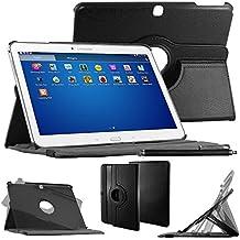 "ebestStar–Para Samsung Galaxy Tab 410.1SM-T530, T531T535–Funda–carcasa de piel PU soporte giratorio 360° + lápiz táctil, color negro [Dimensions precises de votre calentador: 243.4X 176.4X 8mm, pantalla 10.1""]"