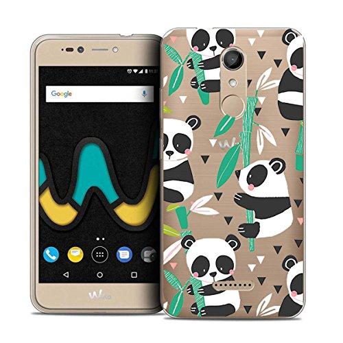 LJSM Hülle Wiko Upulse Lite Panda Transparent Silikon Schale Schutzhülle Case Crystal Clear Durchsichtige TPU Bumper Backcover Handyhülle Tasche für Wiko Upulse Lite (5,2 Zoll)