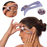 Piesome Eyebrow Face and Body Hair Threading and Removal System, tweezers for eyebrows, threading tool, threading machine for women, threading epilators for women (purple)