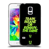Head Case Designs Train Insane Fitness Motivation Soft Gel Hülle für Samsung Galaxy S5 Mini