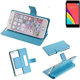 K-S-Trade Flipcover proetcion case for Oppo R5s, light blue