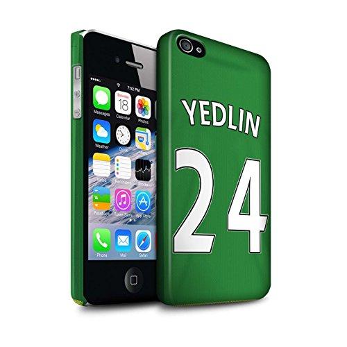 Officiel Sunderland AFC Coque / Clipser Matte Etui pour Apple iPhone 4/4S / Pack 24pcs Design / SAFC Maillot Extérieur 15/16 Collection Yedlin