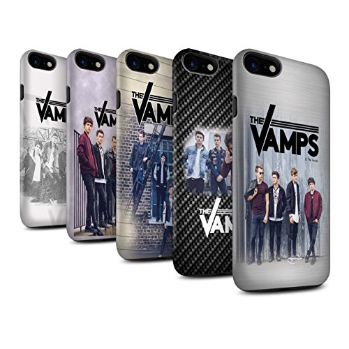 Officiel The Vamps Coque / Matte Robuste Antichoc Etui pour Apple iPhone 8 / Scrapbook Design / The Vamps Séance Photo Collection Pack 6pcs