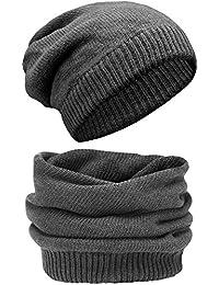 Grin&Bear sehr weicher oder warmer Snood unisex Beanie Mütze 2in1 Schal und Mütze M7
