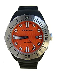 Immersion IM6992 Gents Watch Automatic Analogue Orange Dial Black Plastic Strap
