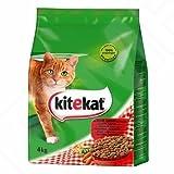 Kitekat Trocken-Katzenfutter mit Rind