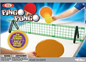 POOF-Slinky 37257BL Ideal Pingo Pongo Portable Tabletop Ping Pong Set with Paddles and Foam Balls by Ideal TOY (English Manual)