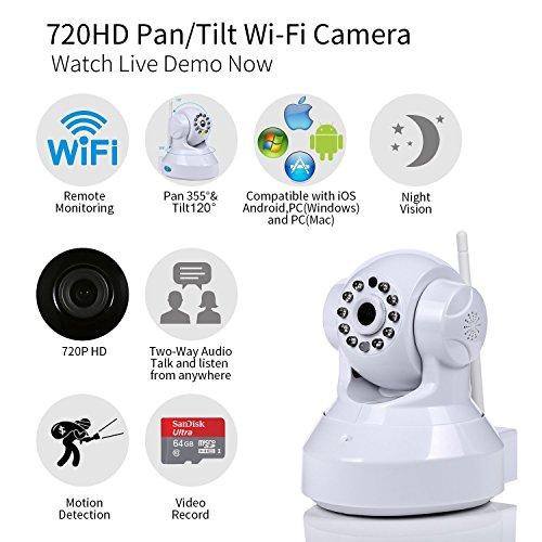 NexGadget IP Telecamera Sorveglianza WiFi Registrazione di Video Con Visione Notturna a Infrarossi