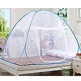 Reise doppelbett Yurt moskitonetz Student bett imprägniert moskitonetz für Reisende Wanderer und Camper Innen- und Außenbereich (180*200cm)