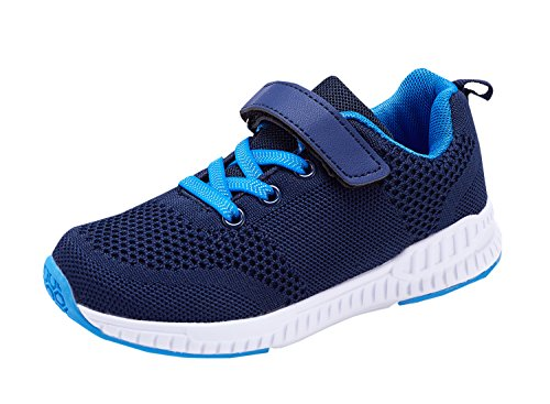 KALEIDO Boys Girls Trainers Kids Breathable Lightweight Sneakers Sport Tennis Walking Running Shoes (UK 13 Kids, Navy Blue)