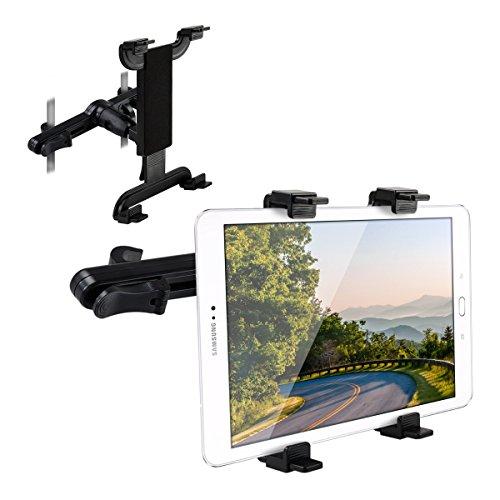 kwmobile Tablet Kopfstützenhalterung für Samsung Galaxy Tab S2 9.7 Schwarz - Auto KFZ Kopfstütze Tablethalterung (Monitor Kopfstütze Ipad)