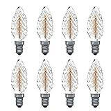 Paulmann Rustika Lot de 8 bougies torsadées 40 W E14 Lampe à charbon blanc chaud à...