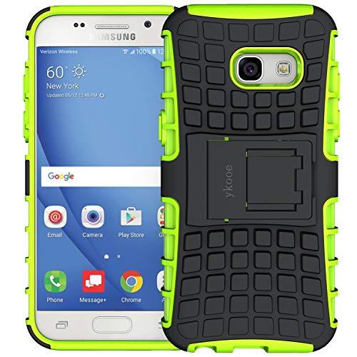 ykooe Coque Samsung A3 2017, Bouclier Série Smartphone Etui Housse Anti-Slip Samsung Galaxy A3 Coque de Protection en TPU avec Absorption de Choc Béquille et Anti-Scratch [4.7 Pouces]