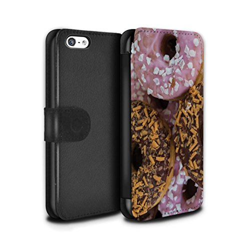 Stuff4 Coque/Etui/Housse Cuir PU Case/Cover pour Apple iPhone 5C / Chocolat/Rose Design / Beignets Savoureux Collection Chocolat/Rose