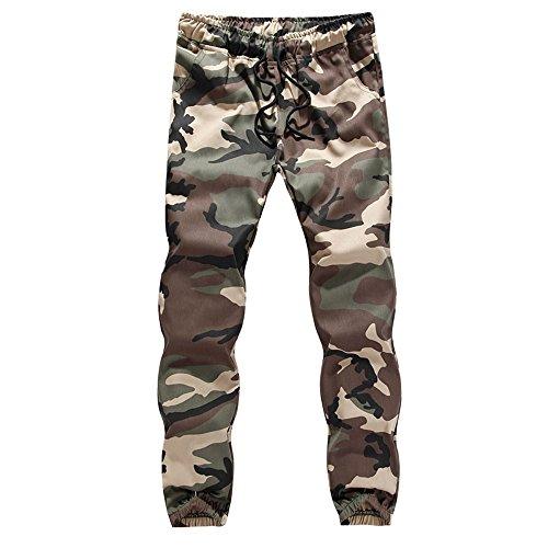 Aiserkly Herren Jogging Hose Casual Jogger Camo Sportwear Baggy Harem Pants Hosen Jogginghose Armeegrün XL