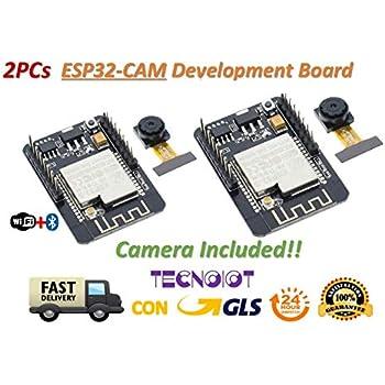 Carte de d/éveloppement Durable WiFi ESP32-CAM Basse consommation+Ensemble de modules Bluetooth 6SHINE Module cam/éra 5//5000 翻译是针对不同性别给出的。 了解详情 Noir