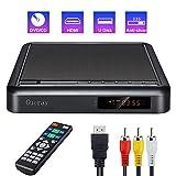 Gueray Lecteur de Disque DVD Portable avec Conversion Full HD et Lecture sur Disque Dur Externe DVD-R/RW CD-R/RW Port USB Télécommande DivX Câble Audio AV pour la Connexion TV Port HDMI