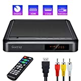 Gueray Tragbarer DVD Player mit Full HD-Upscaling und Externer Festplattenwiedergabe DVD-R / RW-CD-R / RW-USB-Anschluss Fernbedienung DivX AV-Audiokabel für TV-Verbindung HDMI-Anschluss