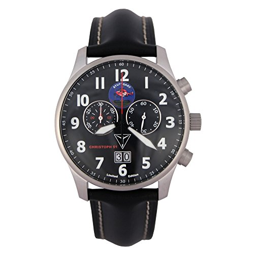 Junkers Men's Chronograph Watch with Christoph 51Air Rescue Limited Edition–6686