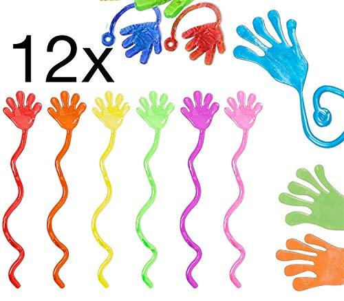 TK Gruppe Timo Klingler 12x Klatschhand Kinder Bunte Glibberhand Mitgebsel & Giveaway - Jungen & Mädchen Kindergeburtstag