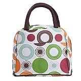 ZXKEE Bunte Kreise Design Frauen Taschen Lunchpaket Wickeltasche