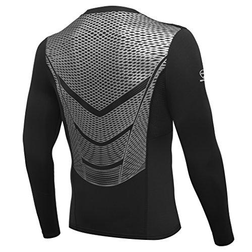 AMZSPORT Maglia Manica Lunga Compression da Uomo Sport Baselayer Asciugatura Rapida Lunga Camicia all Season