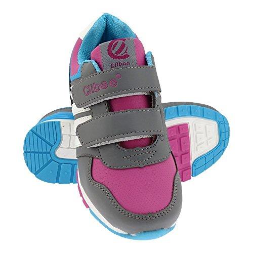 GALLUX - Kinder Sneaker Schuhe tolle bunte Turnschuhe Grau