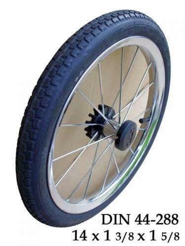 Kinderwagen Rad 14 Zoll, 44 - 288 mit Metallspeichen, kugelgelagert