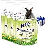 3 x 4 kg Bunny Kaninchen Traum Oral Nagerfutter für Hasen mit Kamille + Geschenk
