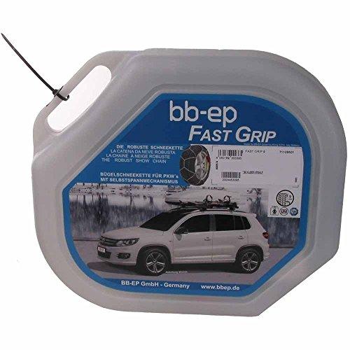 BB-EP Schneekette für BMW Serie 3 (F30) mit der Reifengröße 205/60 R16 - MIT SELBSTSPANNMECHANISMUS - mit Ö-Norm, Uni und TÜV