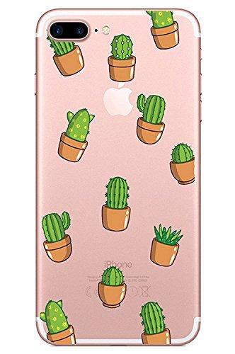 Blitz® CACTUS motifs housse de protection transparent TPE iPhone PUNK ananas M10 iPhone 5c Pot Cactus M6