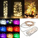 #6: 1M Battery Powered 10 LED Copper Wire Fairy String Light Wedding Xmas Party Lamp-Yellow