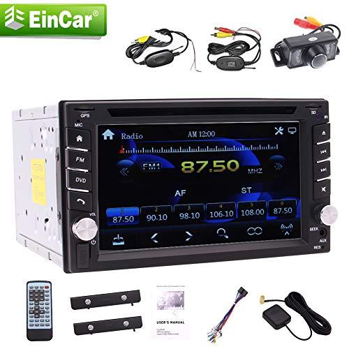 EINCAR Double 2 Din Universal mit 6.0 Auto GPS DVD-Player 6.2