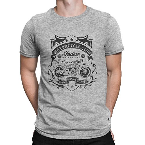 Motorcycle Club Loudest And Fastest Cafe Racer Style Herren T-shirt L