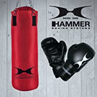Hammer Handschuhe Boxset Fight, rot/schwarz, 80 cm, 92074