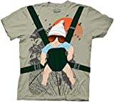 Hangover Alan Baby Bjorn With Graphic Human Tree Dark Khaki Erwachsene Kostüm T-Shirt (X-Large)
