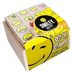 MULTIPRINT Smiley - Juegos de Sellos para niños, Caucho, Madera, 3 año(s), Italia, 70 mm, 70 mm