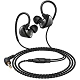 AUKEY Loops Wired Headphones, In-Ear Earbuds Comfort Fit with Dual Moving-Coil for Cell Phone, Laptop Computer and Other Devices with 3.5 mm Audio Output
