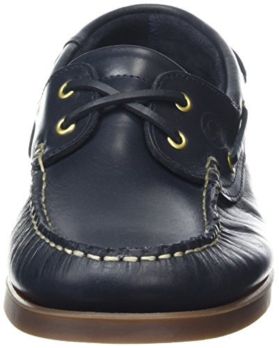 Quayside Unisex-Erwachsene Clipper Bootsschuhe Blau - Blau (Marineblau)