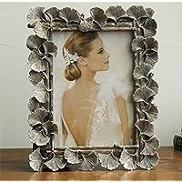 weiwei Portaretrato creativo vintage,Ginkgo biloba hojas Portafotos de resina Marco de la decoración del