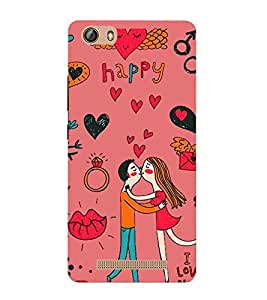 For Gionee Marathon M5 lite cute Printed Cell Phone Cases, love Mobile Phone Cases ( Cell Phone Accessories ), kiss Designer Art Pouch Pouches Covers, romantic Customized Cases & Covers, ring Smart Phone Covers , Phone Back Case Covers By Cover Dunia