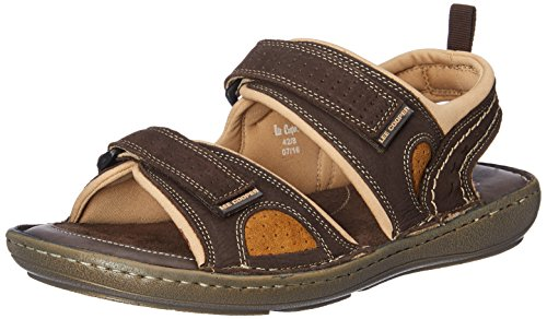 Lee Cooper Men's Dark Brown Leather Sandals and Floaters - 7 UK/India (41 EU)
